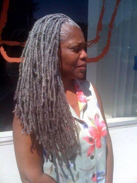 Graceful grey locs - Black Hair Information Community