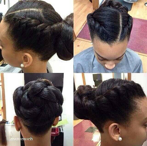 Easy Hairstyles For Medium Black Relaxed Hair : Goddess braid easy protective style black hair information