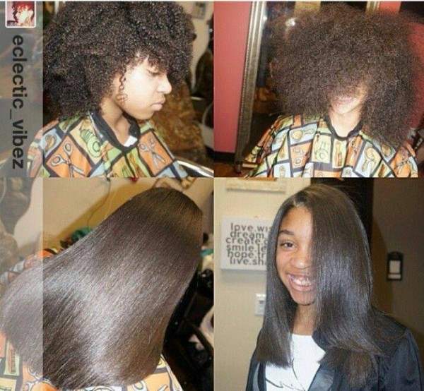 Flat Iron Hairstyles For Black Hair Flat Ironed Natural Hair