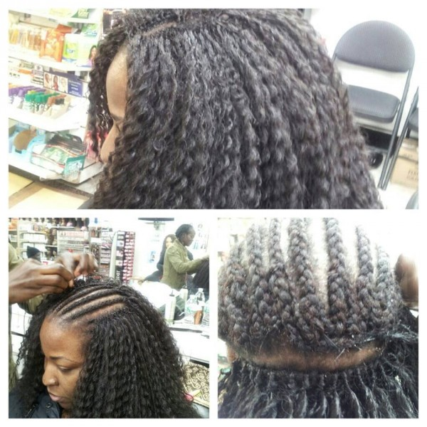 Black Hair Crochet Braids