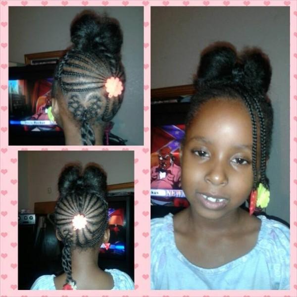 6 Year Old Cavaughn Cute Hair Bow Style Black Hair