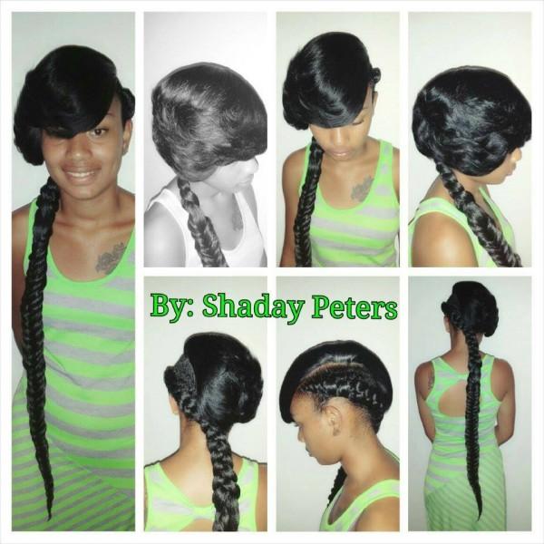 Fishtail Braid Styles For Black Hair Boygirl Fishtail Braid Style