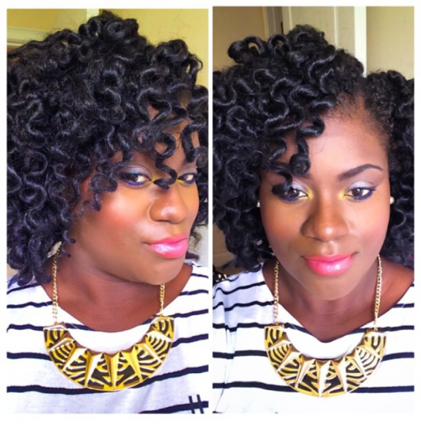 Crochet Braids Exercise : Crochet Braids with Marley Hair Bantu Knots