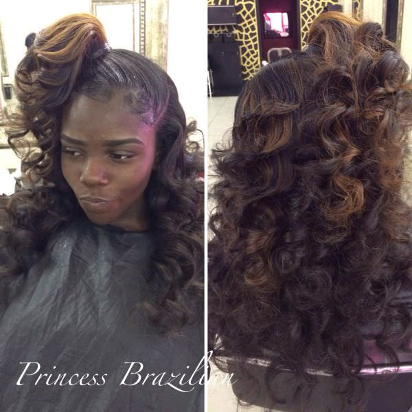 Vixen Sew in Hairstyles Vixen Sew in Long Curls And