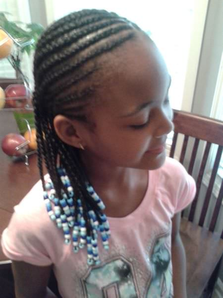 French braid hairstyles for little black girls