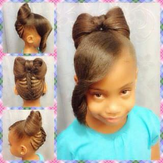 Beautiful Bow Hairstyle For Kids - Black Hair Information Community