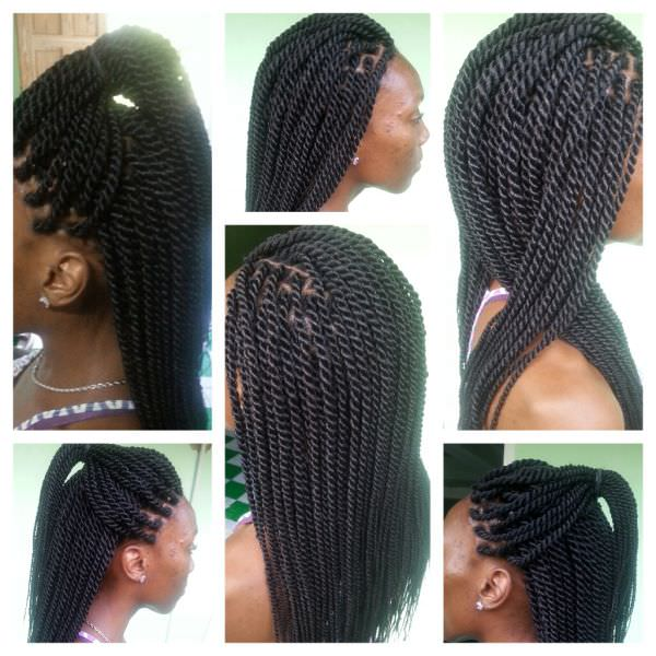 Crochet Hair Rope Twist : Rope Twists : Julietta Charlery