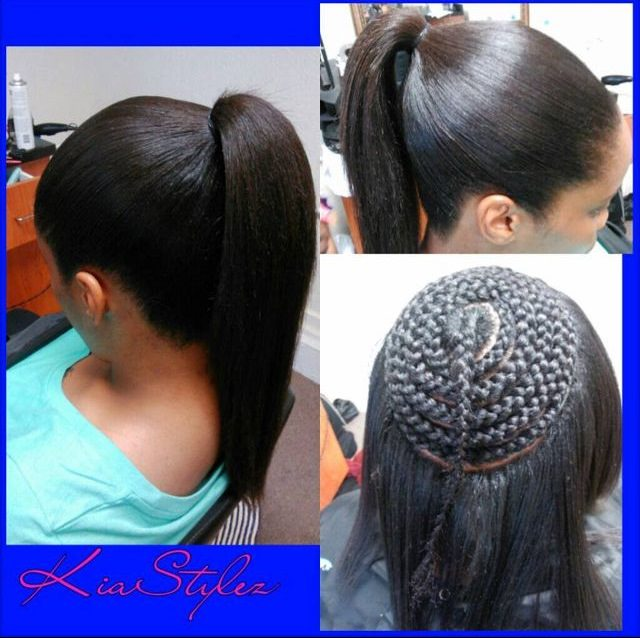 Sew in ponytail  Black Hair Information Community