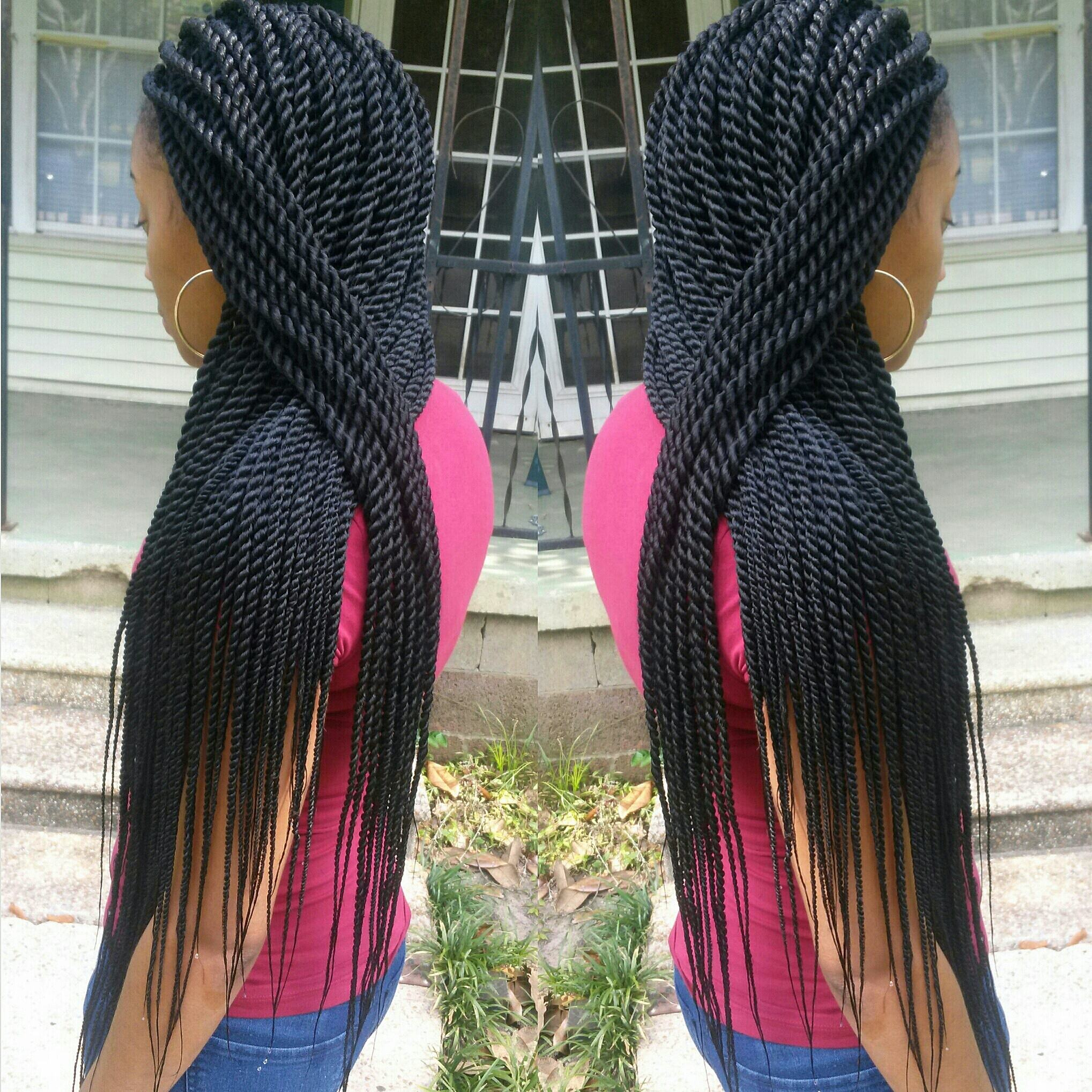 Black Hair Rope Twists Braids Hairstylegalleries Com