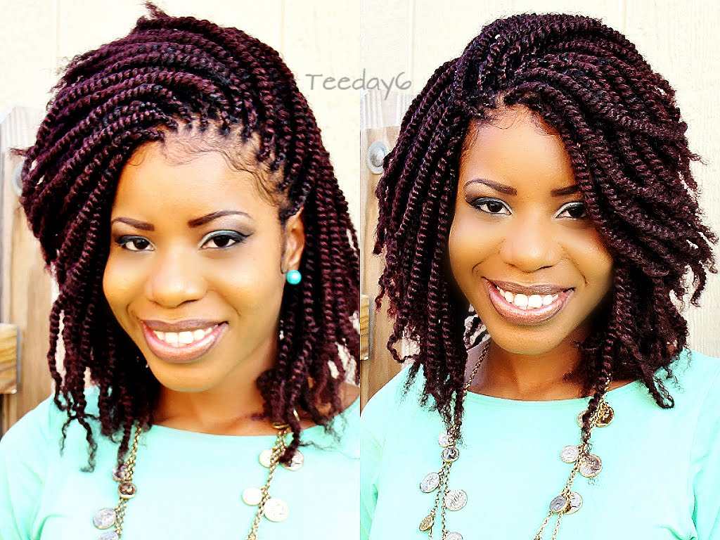 Crochet Hairstyles With Color : Pics Photos - Crochet Braids Afro Fluffy Puffy Havana Twist Demo