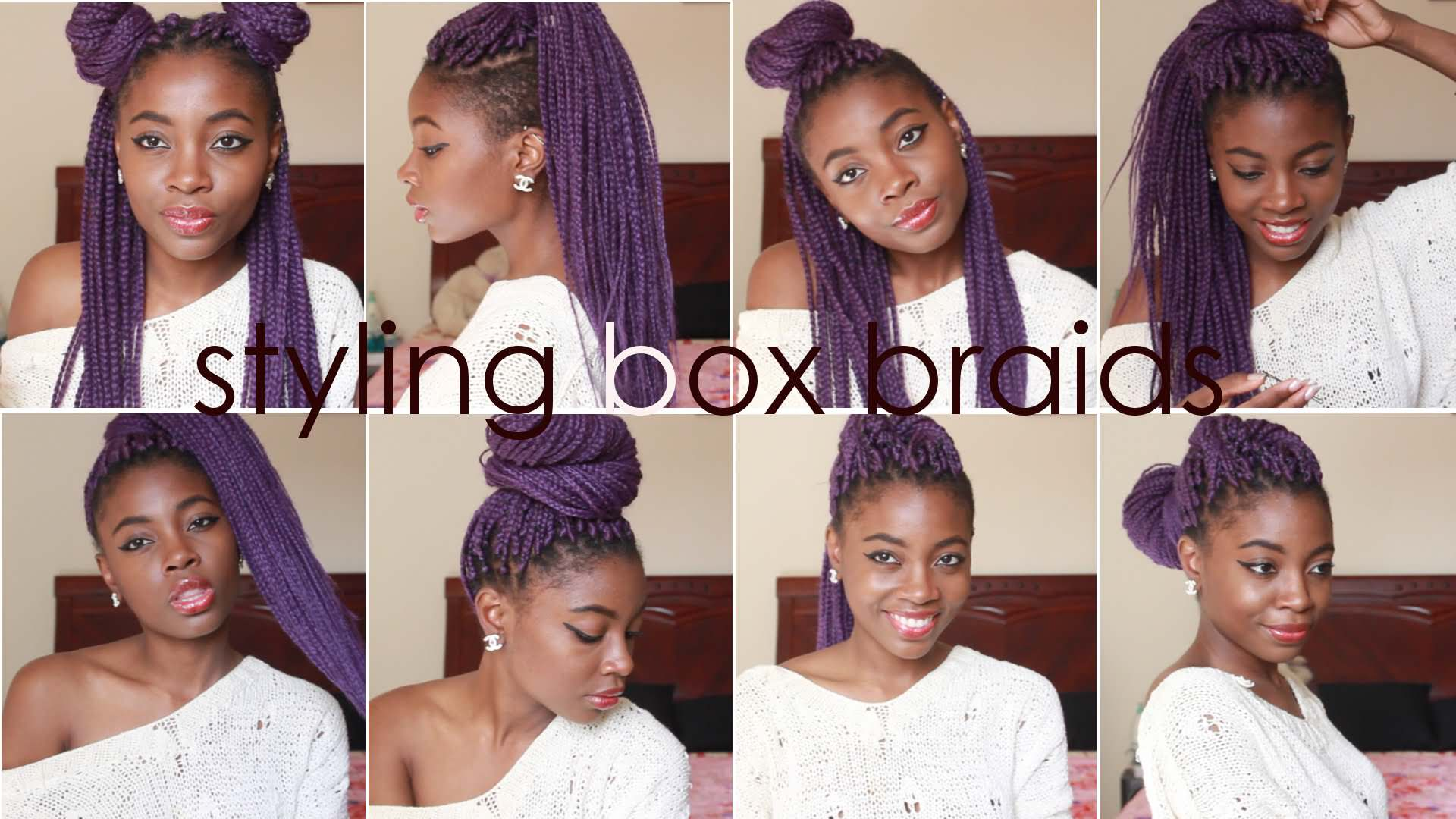Ways To Style Crochet Box Braids : Cute And Easy Ways To Style Box Braids Png Pictures to pin on ...