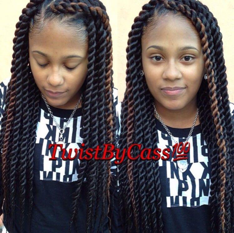 rope twists hairstyles : Big Rope Twist Styles Medium big twists shared by @twistbycass - black ...