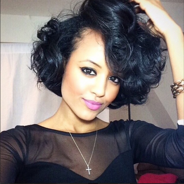 Beautiful Curly Bob yodithaile Black Hair Information