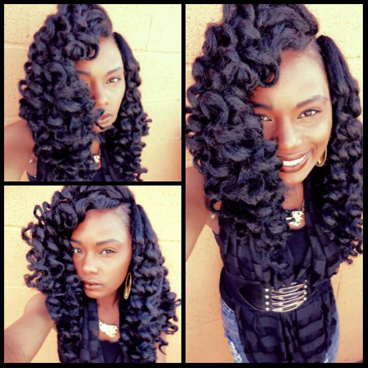 Cuban Twist Crochet Braids with Hair