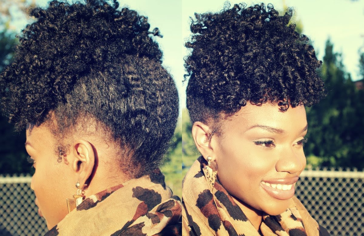 Easy Elegant Fall Twist Out Up-Do Tutorial On Natural Hair