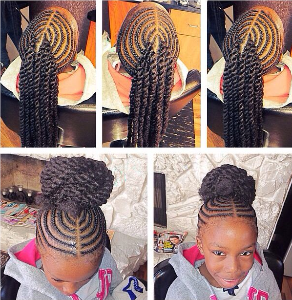 Fishbone Braid Style For Kids | hairstylegalleries.com