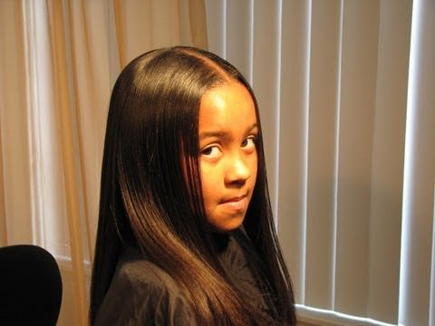 How To Feather Natural Hair With Flat Iron