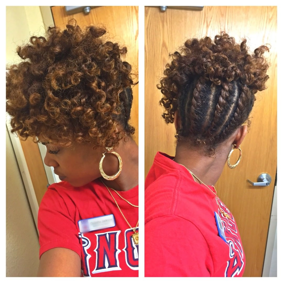 Amazing Natural Hair Flat Twist Updo  Thirstyrootscom Black Hairstyles