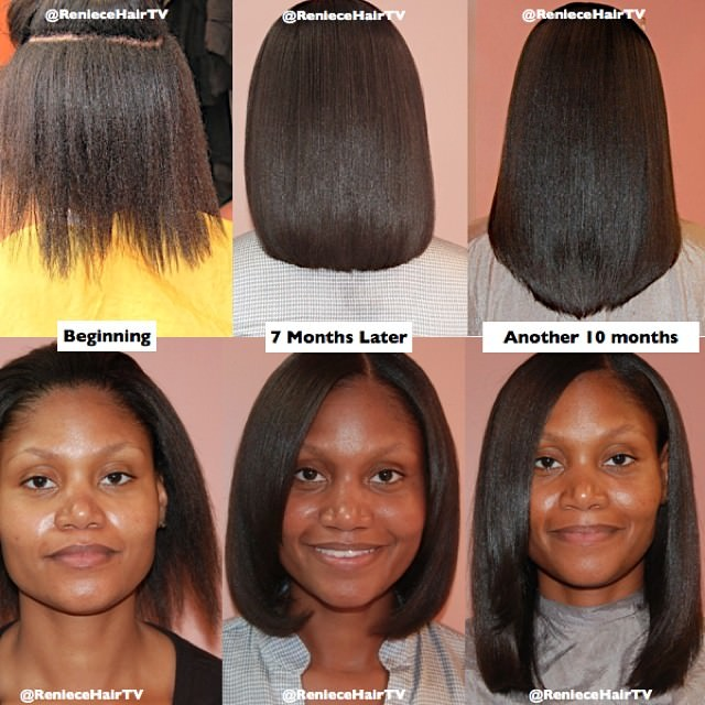 Easy Hairstyles For Medium Black Relaxed Hair : Nice one reniecehairtv black hair information community