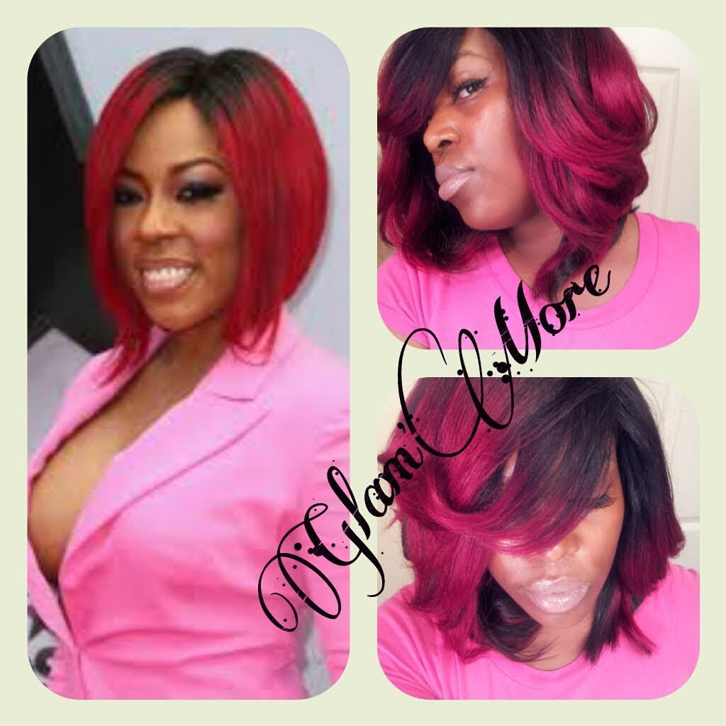 Red Ombre Weave Inspired By K Michelle Video Black