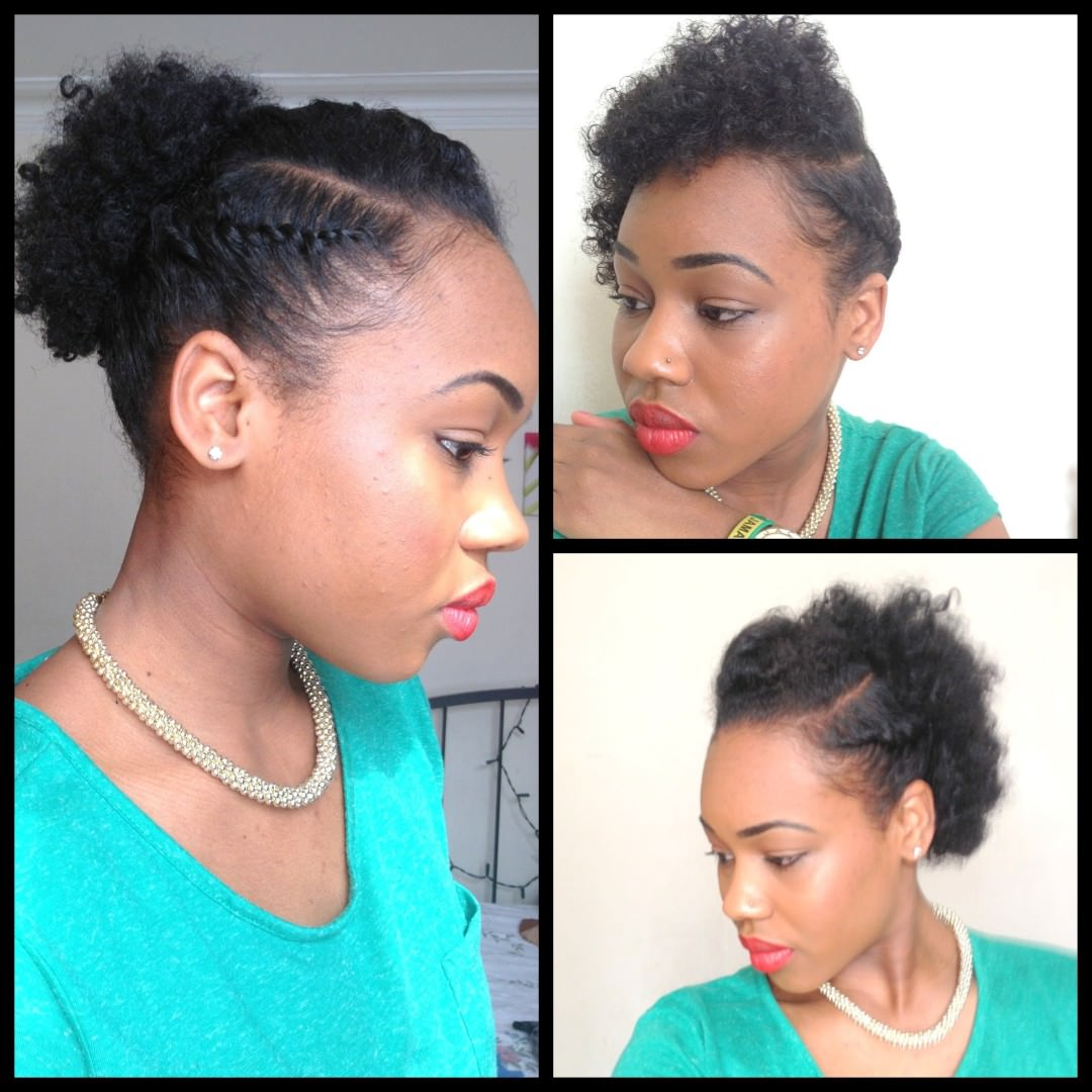 3 Simple Cute Styles for Short Natural Hair [Video ...