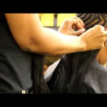 Deep Side Part Bob Sew-in Braid Pattern [Video]