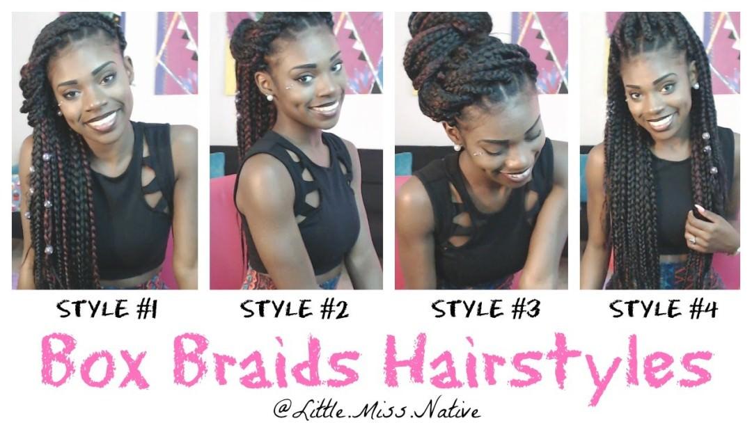 Cute Box Braids Styles Pictures Of Box Braid Styles Hair Braiding ...