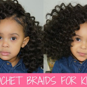 Twist Out Crochet Braids On A Little Girl