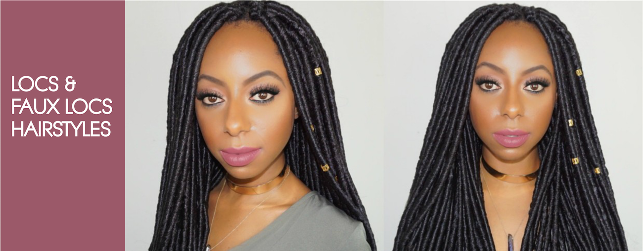 slider -locs and faux locs hairstyles