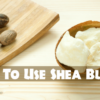 Shea butter in natural form
