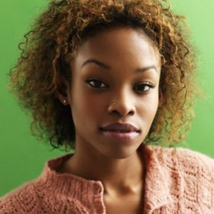 Braid out on relaxed hair