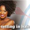 Half naked Afro twist Black woman with beautiful smile