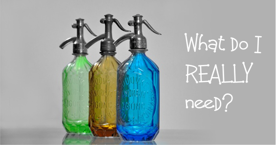glass bottles - what do i really need haircare