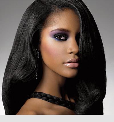 Long healthy black hair