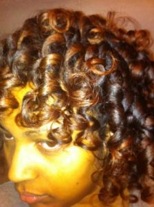 smooth and shiny curls