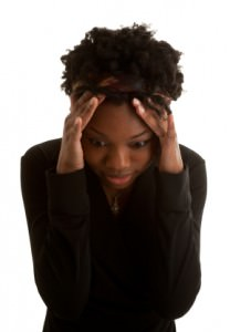 Young African American Woman Is Stressed