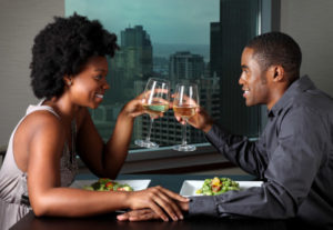 African American Couple On A Date