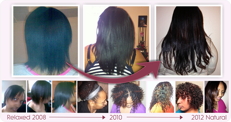 Natural hair growth 2008 to 2012 four and a half