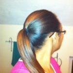 Plain ole flat ironed ponytail