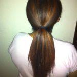 Stretch Blow dried ponytail