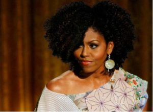 Michele Obama With Natural Hair