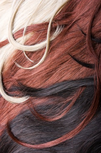 Black red and platinum blonde hair