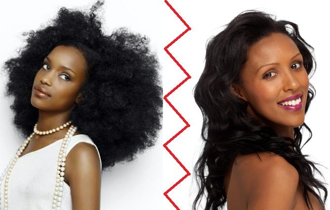 natural hair vs relaxed hair