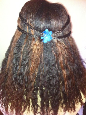 Hair Growth Vitamins >> Pulled Back Hairstyle With Braid Detail Easy Hairstyle