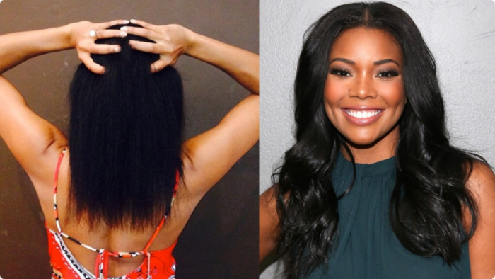 Gabrielle union showing off natural hair