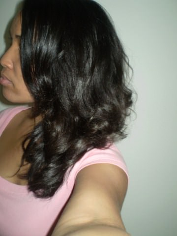 Lia hair story - natural 4a straightened