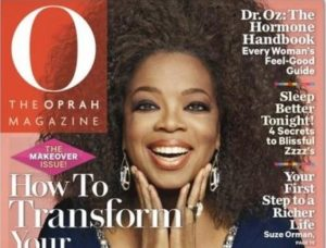 Oprah natural hair on cover of O magazine