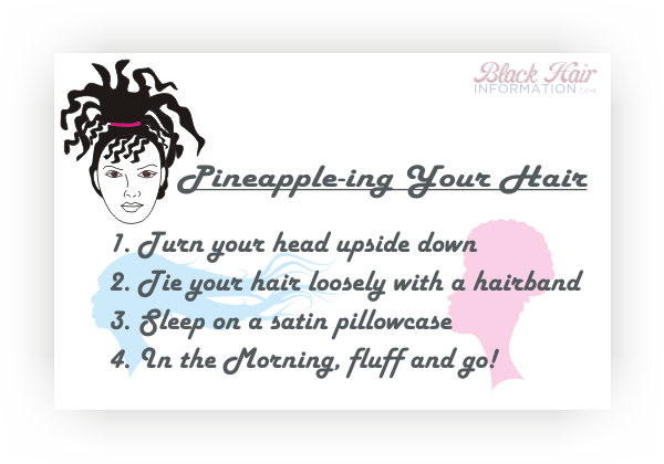 How to pineapple your hair