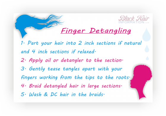 How To Finger Detangle Hair Natural Or Relaxed