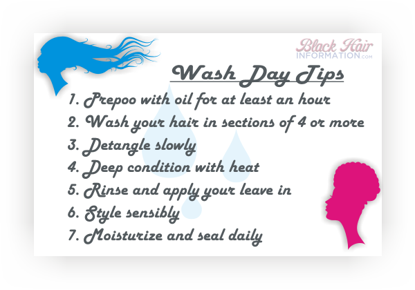 Wash day tips